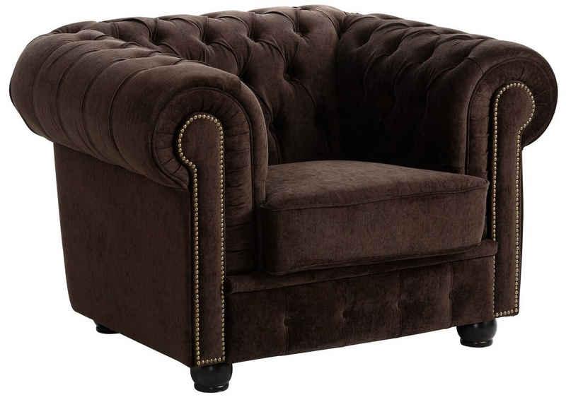 Max Winzer® Chesterfield-Sessel »Rover«, mit edler Knopfheftung