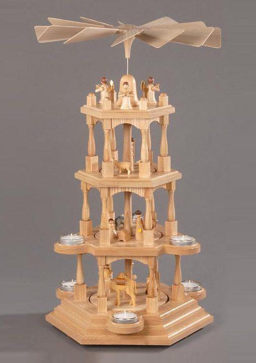 Pyramide, natur, »Christi Geburt«, Albin Preissler