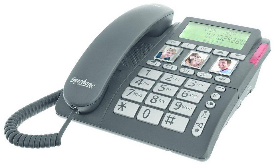 Tiptel Telefon »Ergophone 1200« in Schwarz