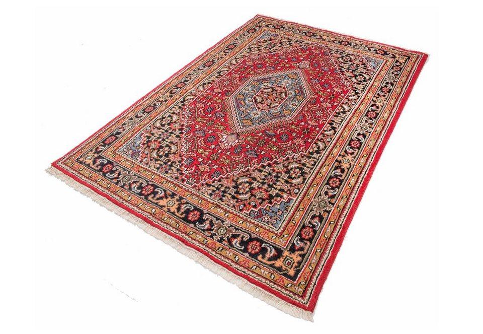Teppich, Parwis,»Indo Bidjar Ghalip«, 4kg/m², 75.000 Knoten/m², handgeknüpft, Wolle in rot
