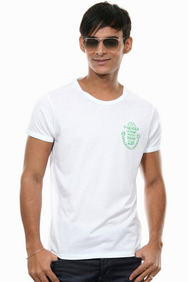 MCL T-Shirt Rundhals slim fit in weiss