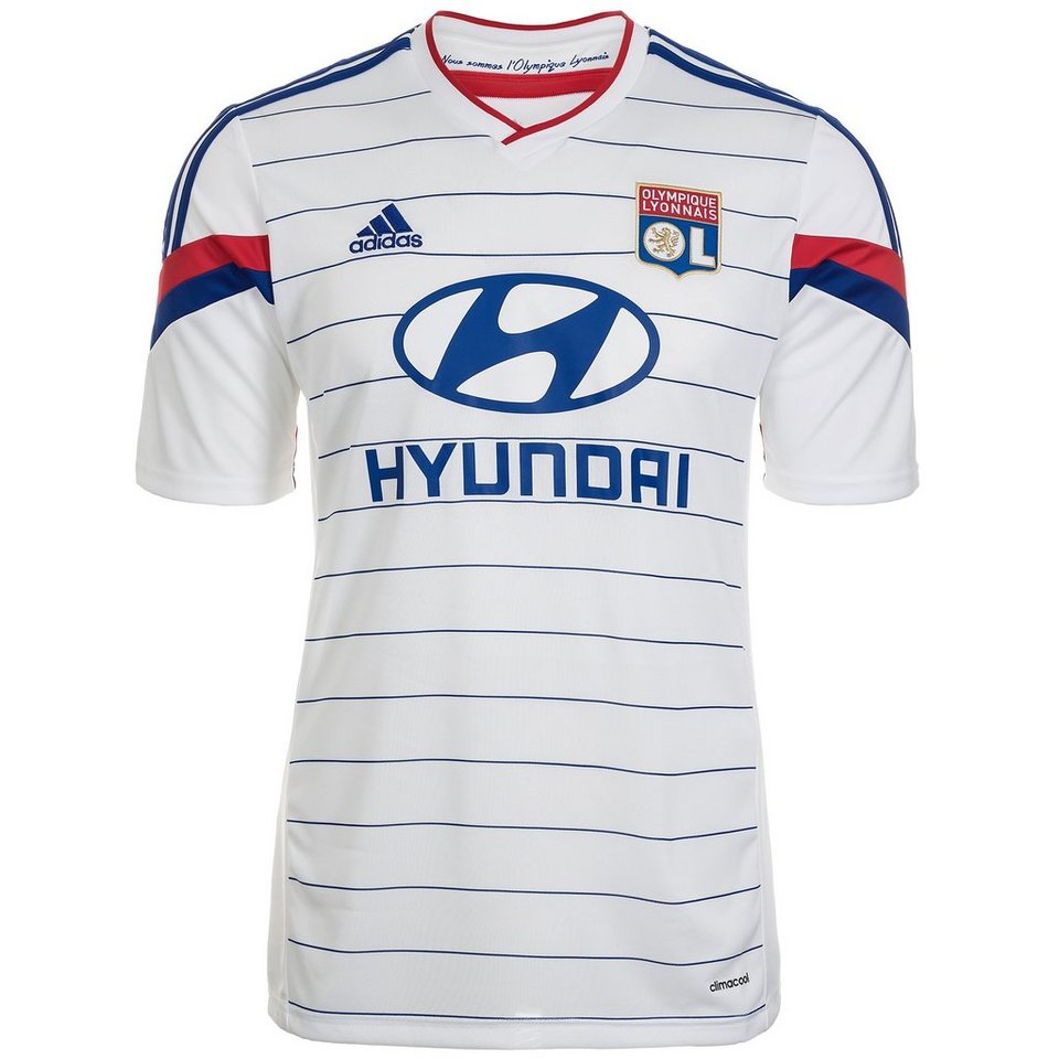 adidas Performance Olympique Lyon Trikot Home 2014/2015 Herren in weiß / blau