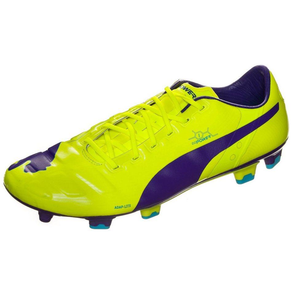 PUMA evoPOWER 1 FG Fußballschuh Herren in gelb / violett
