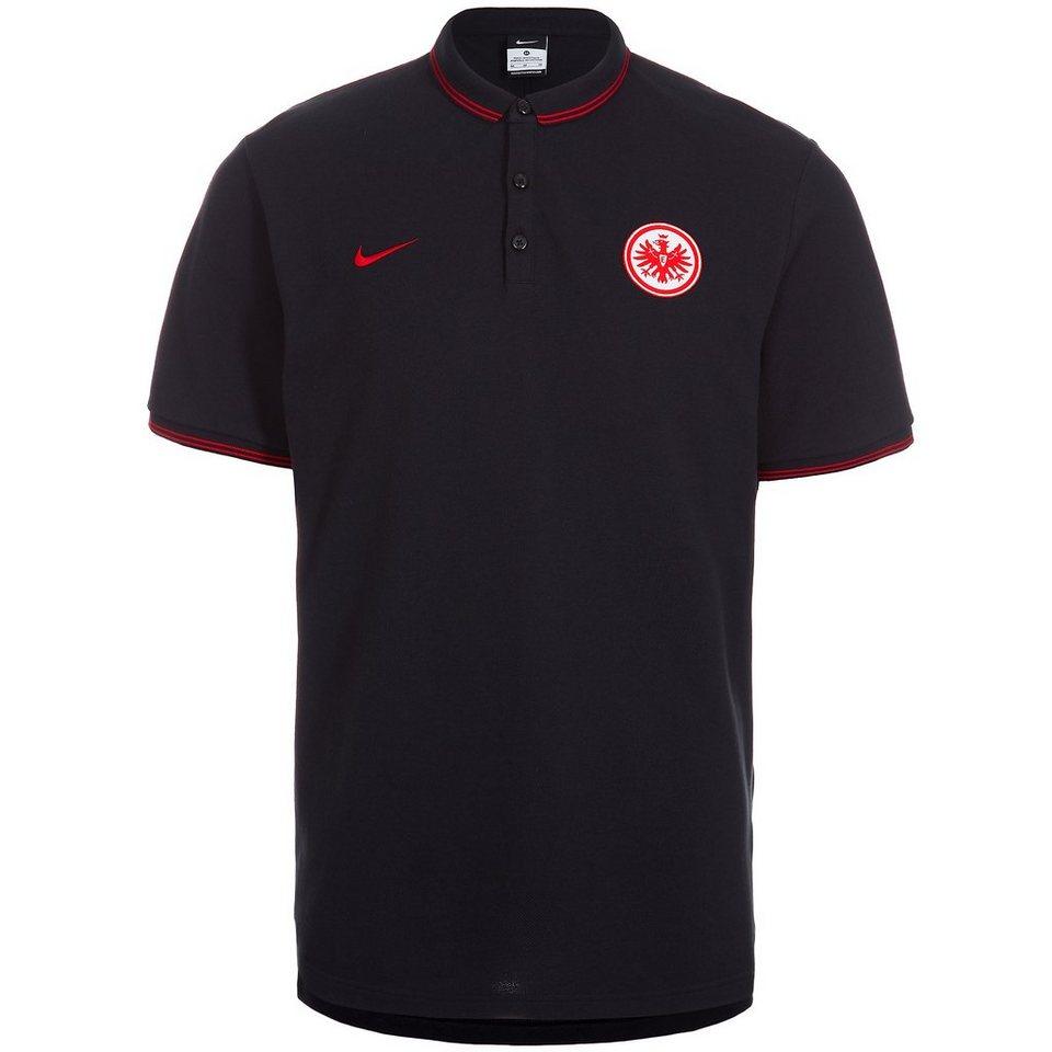 NIKE Eintracht Frankfurt Poloshirt Authentic Herren in schwarz / rot