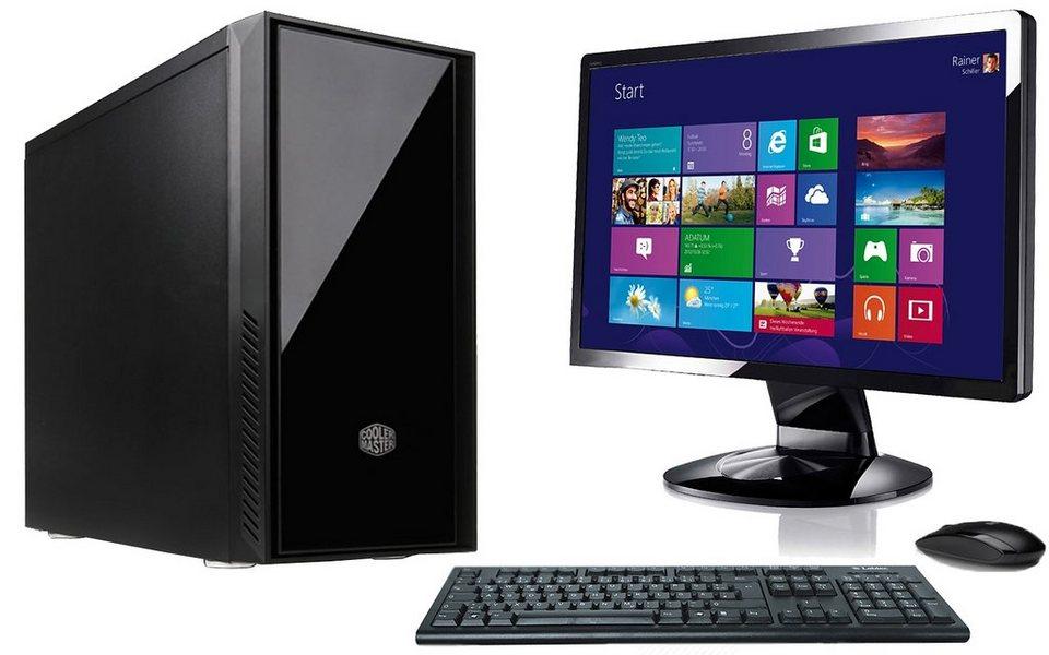 "VCM Silent PC-Set / Intel Core i5-6600 / »8 GB RAM / Windows 10 / 22"" TFT« in Schwarz"