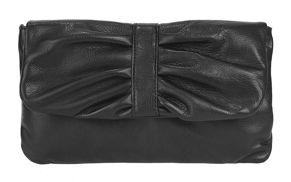 Samantha Look Leder Damen Abendtasche/Clutch in schwarz