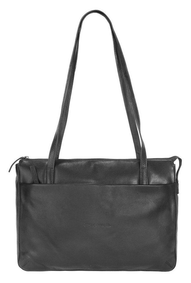 BRUNO BANANI Leder Damen Handtasche »Whisper« in schwarz