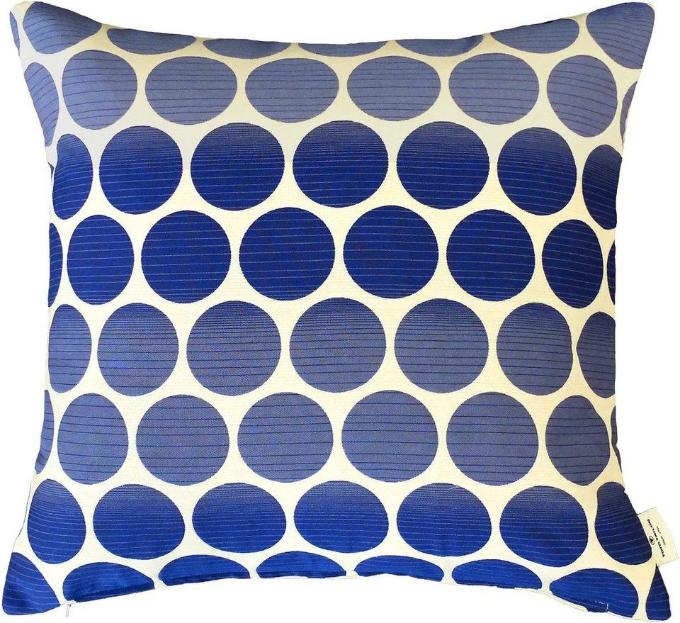Kissenhülle, Tom Tailor, »Pellet 2« (1er Pack) in blau