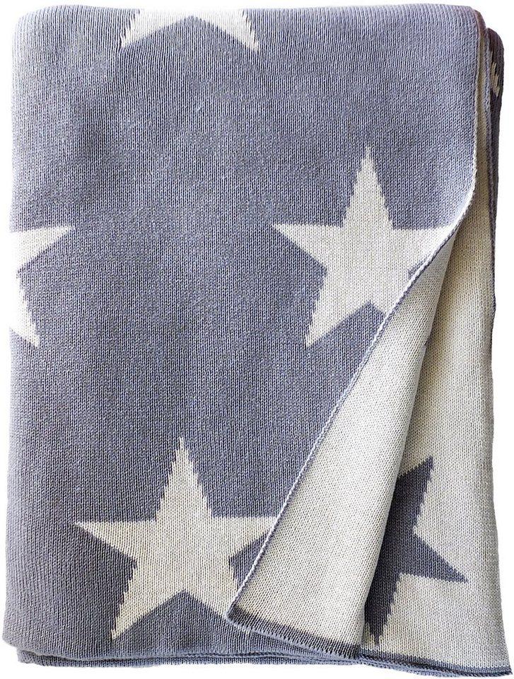 Wohndecke, Tom Tailor, »Big Star«, mit Sterne Motiven in grau