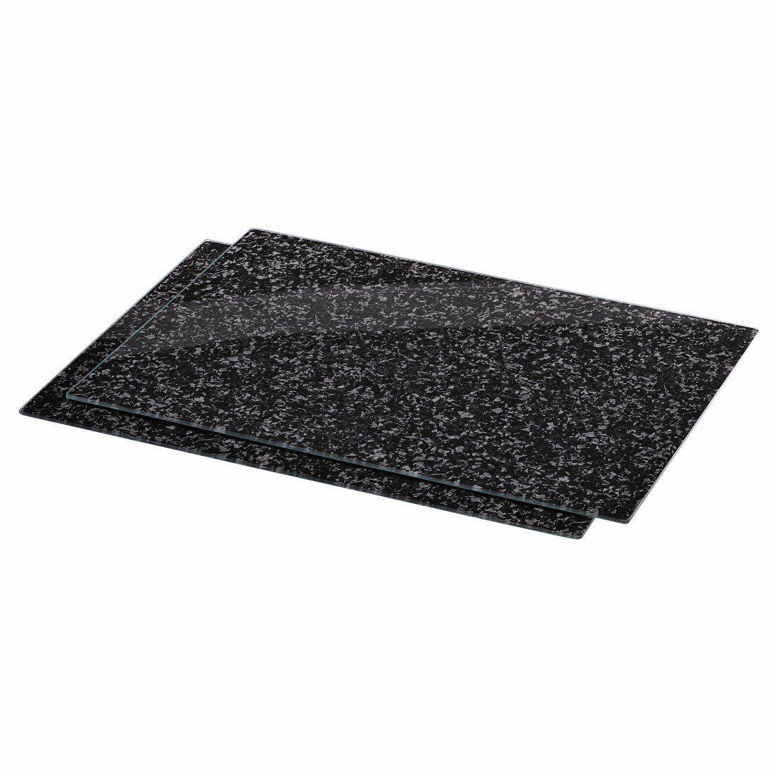 Xavax Herdabdeckplatte, 2er-Pack, Design Granit, 52 cm x 40 cm