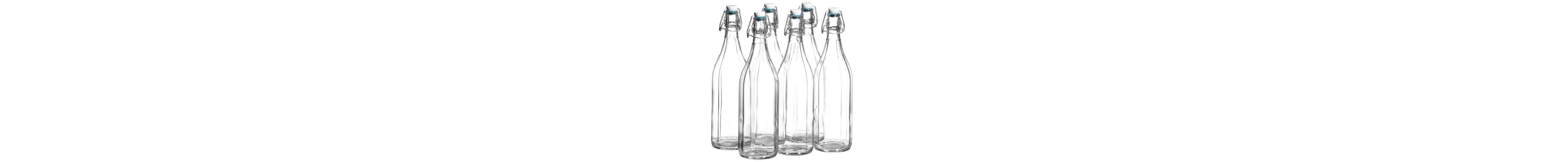 Fruchtsaftflaschen mit Bügelverschluss (6tlg.)