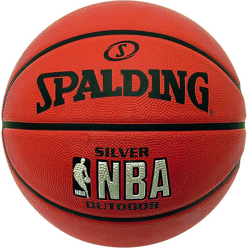 SPALDING NBA Silver Outdoor Basketball in braun