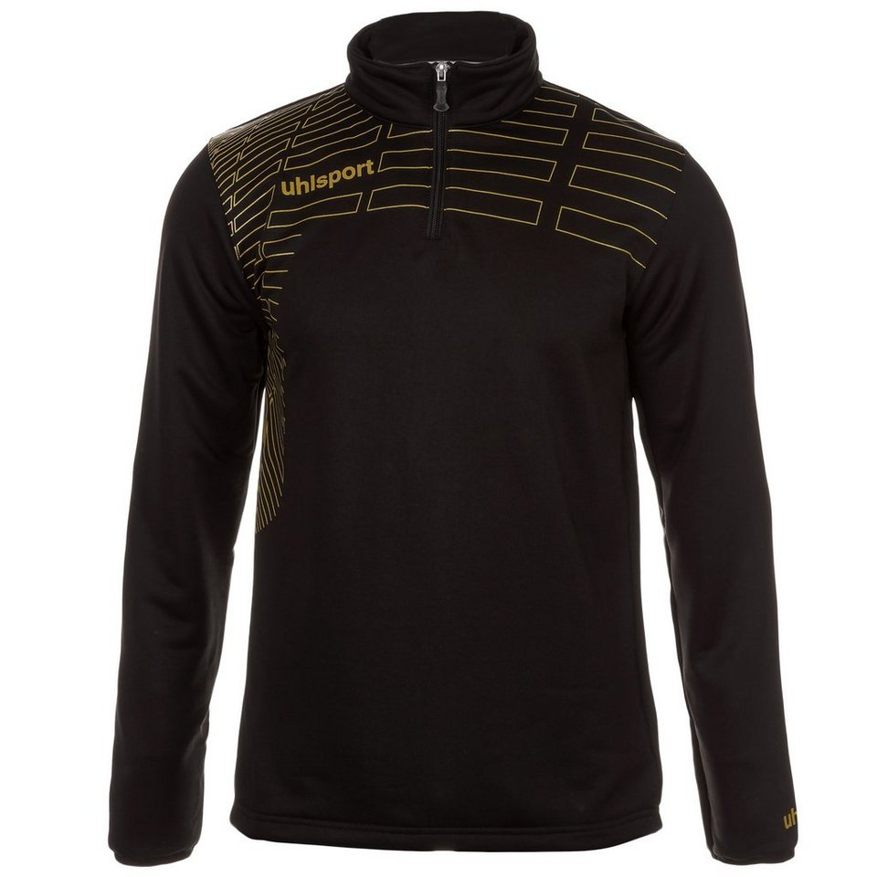 UHLSPORT Match 1/4 Zip Top Herren in schwarz/gold