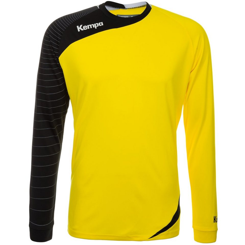 KEMPA Circle Langarm Shirt Herren in limonen gelb/schwarz