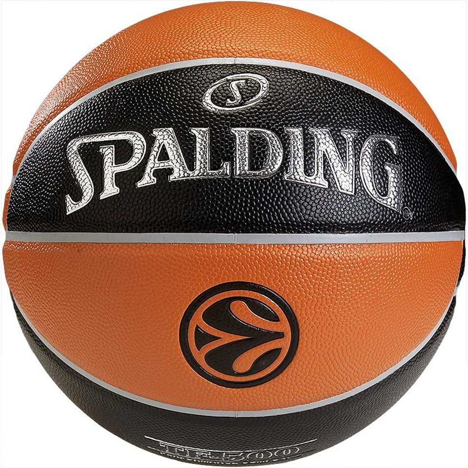 SPALDING Euroleague TF500 Basketball in braun / schwarz