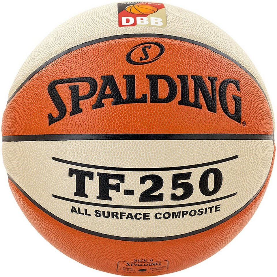 SPALDING TF250 DBB Basketball in braun / weiß