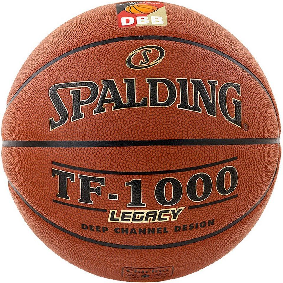 SPALDING TF1000 Legacy DBB FIBA Basketball in braun
