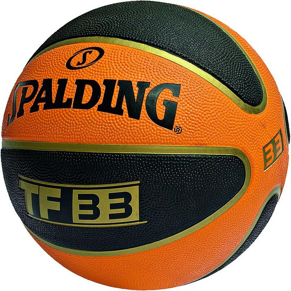 SPALDING TF 33 Outdoor Basketball in braun / schwarz