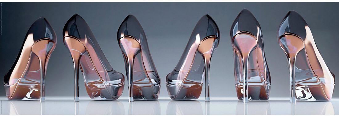 Home affaire Bild »Schuhe - Glas«, 90/30 cm