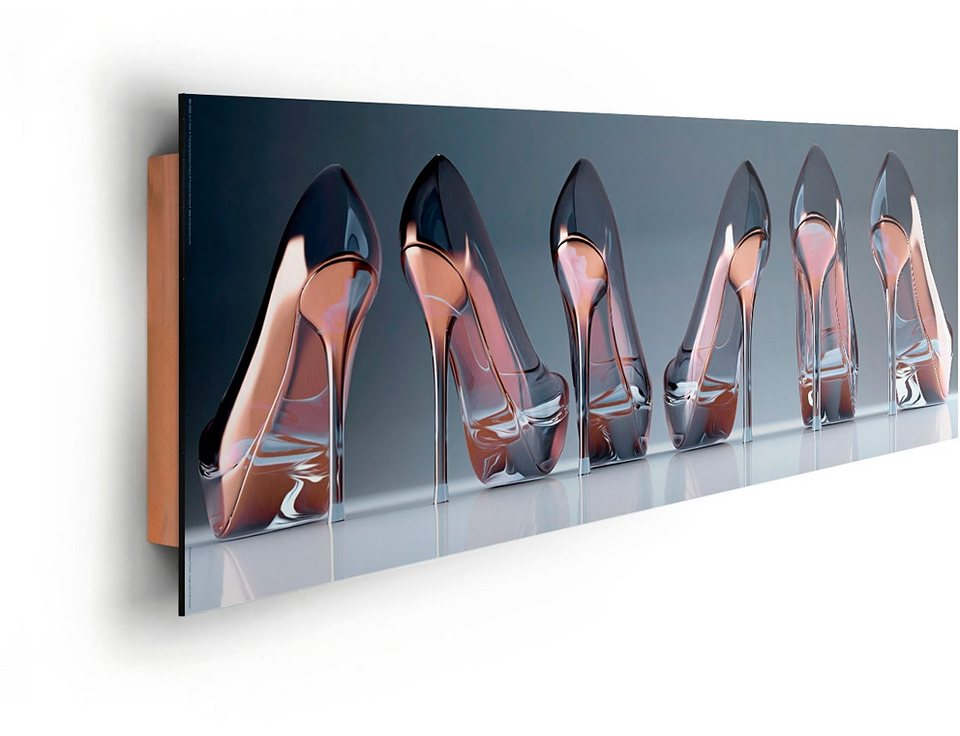 Bild, Home affaire, »Schuhe - Glas«, 90/30 cm in bunt