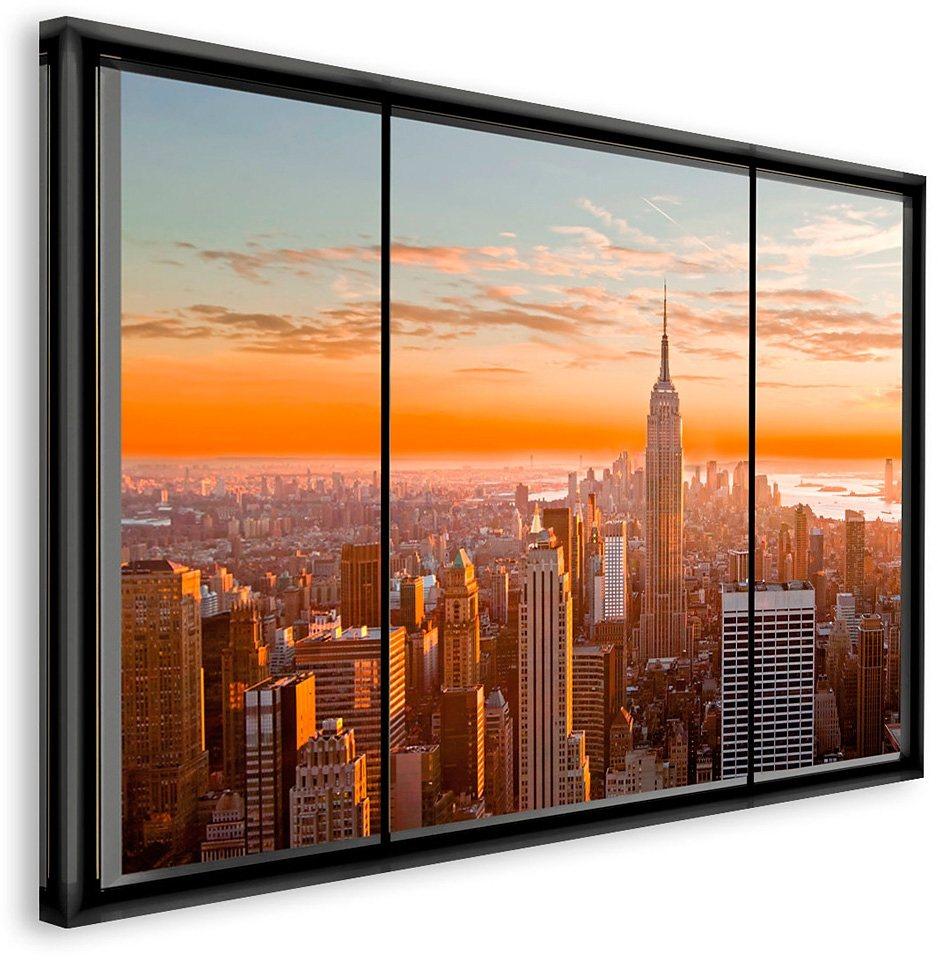 Bild, Home affaire, »New York - Fenster II«, 118/70 cm in bunt
