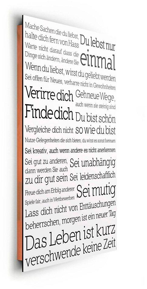Bild, Home affaire, »Du lebst nur einmal«, 60/90 cm in weiß