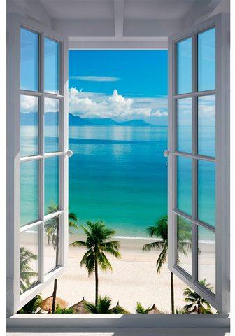 HOME AFFAIRE Paveikslas »Strand Fenster«