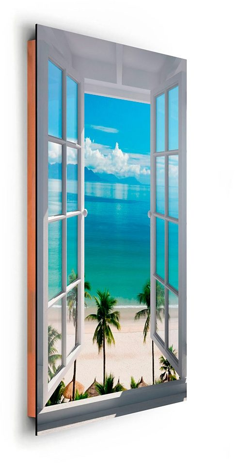 Bild, Home affaire, »Strand Fenster«, 60/90 cm