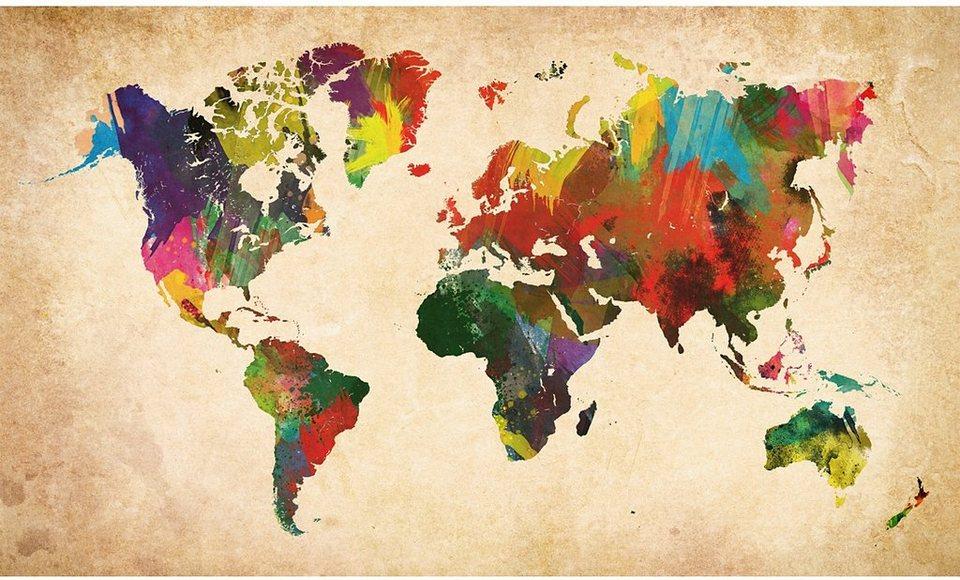 Bild, Home affaire, »Weltkarte in Farben«, 118/70 cm in bunt