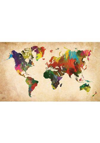 HOME AFFAIRE Paveikslas »Weltkarte in Farben«