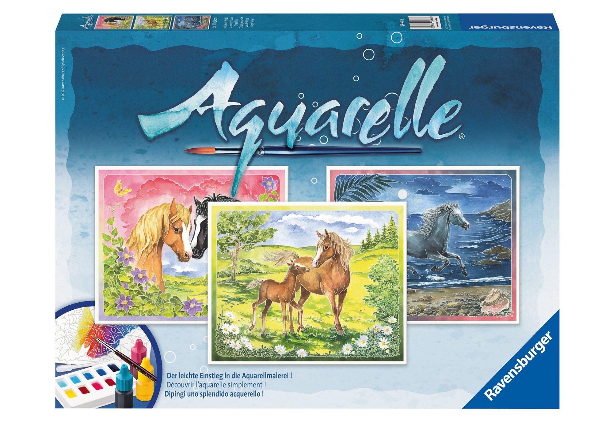 Aquarelle, »Glückliche Pferde«, Ravensburger