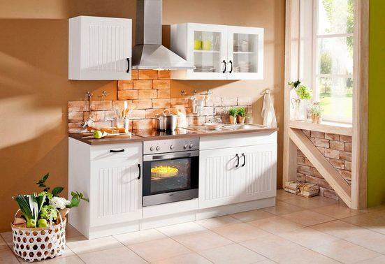 Küchenzeile »Athen«, mit E-Geräten, Breite 210 cm