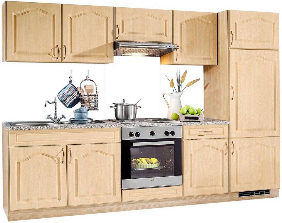 wiho Küchen Küchenzeile »Linz«, mit E-Geräten, Breite 270 cm, mit  Edelstahl-Kochmulde online kaufen | OTTO