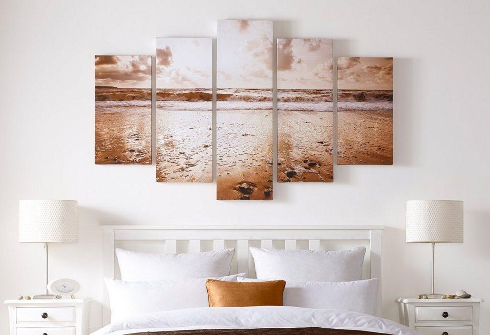 Leinwandbilder »Sonnenaufgang«, 5-tlg. in bunt