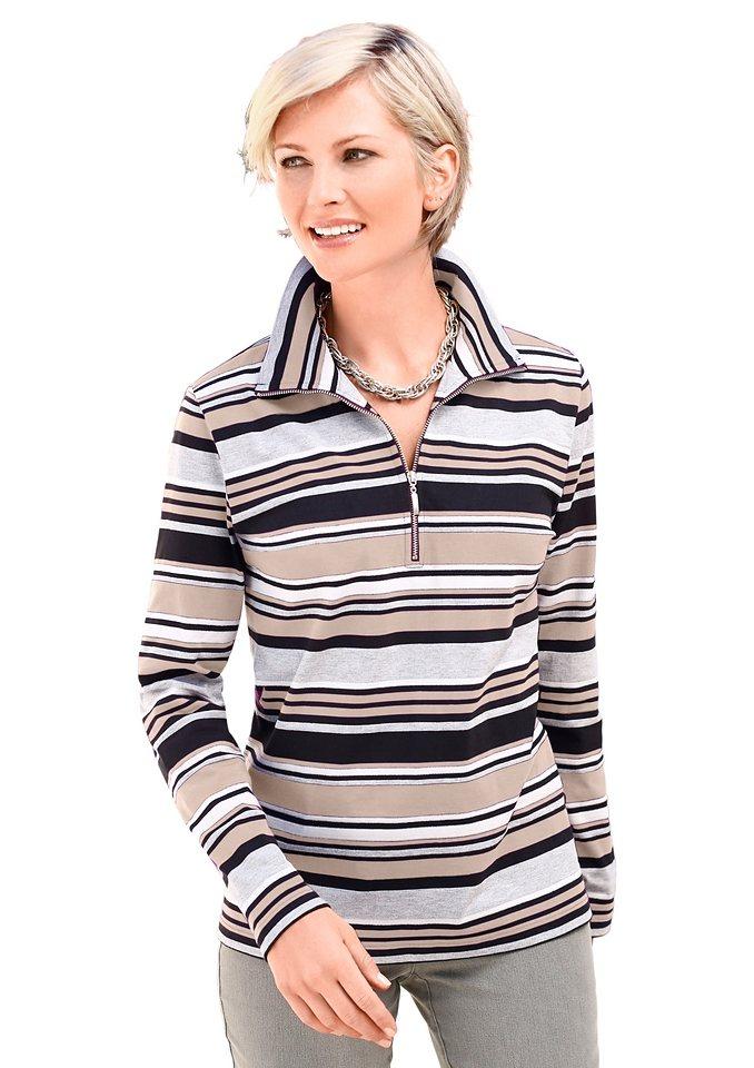 Collection L. Sweatshirt in beige-gestreift