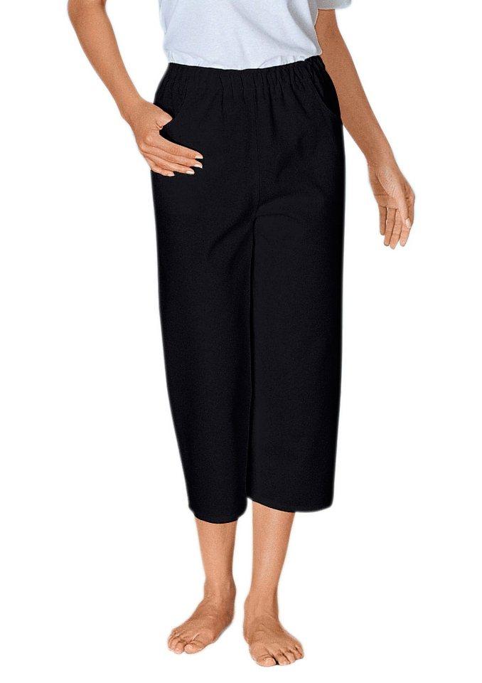 Classic Basics Capri-Hose aus reiner Baumwolle   Bekleidung > Hosen > Caprihosen   Schwarz   Classic Basics