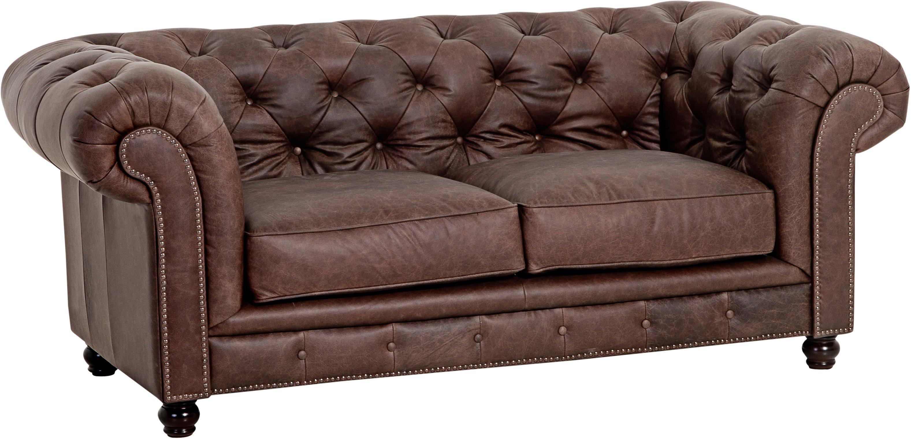 Max Winzer® Chesterfield 2-Sitzer Sofa »Old England« im Retrolook, Breite 192 cm | Wohnzimmer > Sofas & Couches > Chesterfield Sofas | Polyester - Stoff - Leder | Max Winzer®