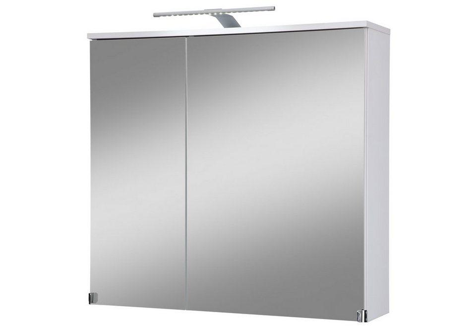 Spiegelschrank »Novara« Breite 80 cm, mit LED-Beleuchtung in weiß