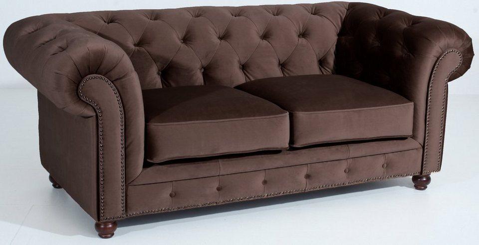 Max Winzer® Chesterfield 2-Sitzer Sofa »Old England« im Retrolook, Breite 192 cm in braun