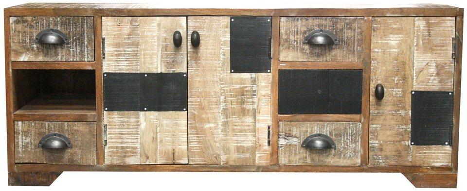 Lowboard, Home affaire, »Botario«, Breite 114 cm in Hell und dunkel natur