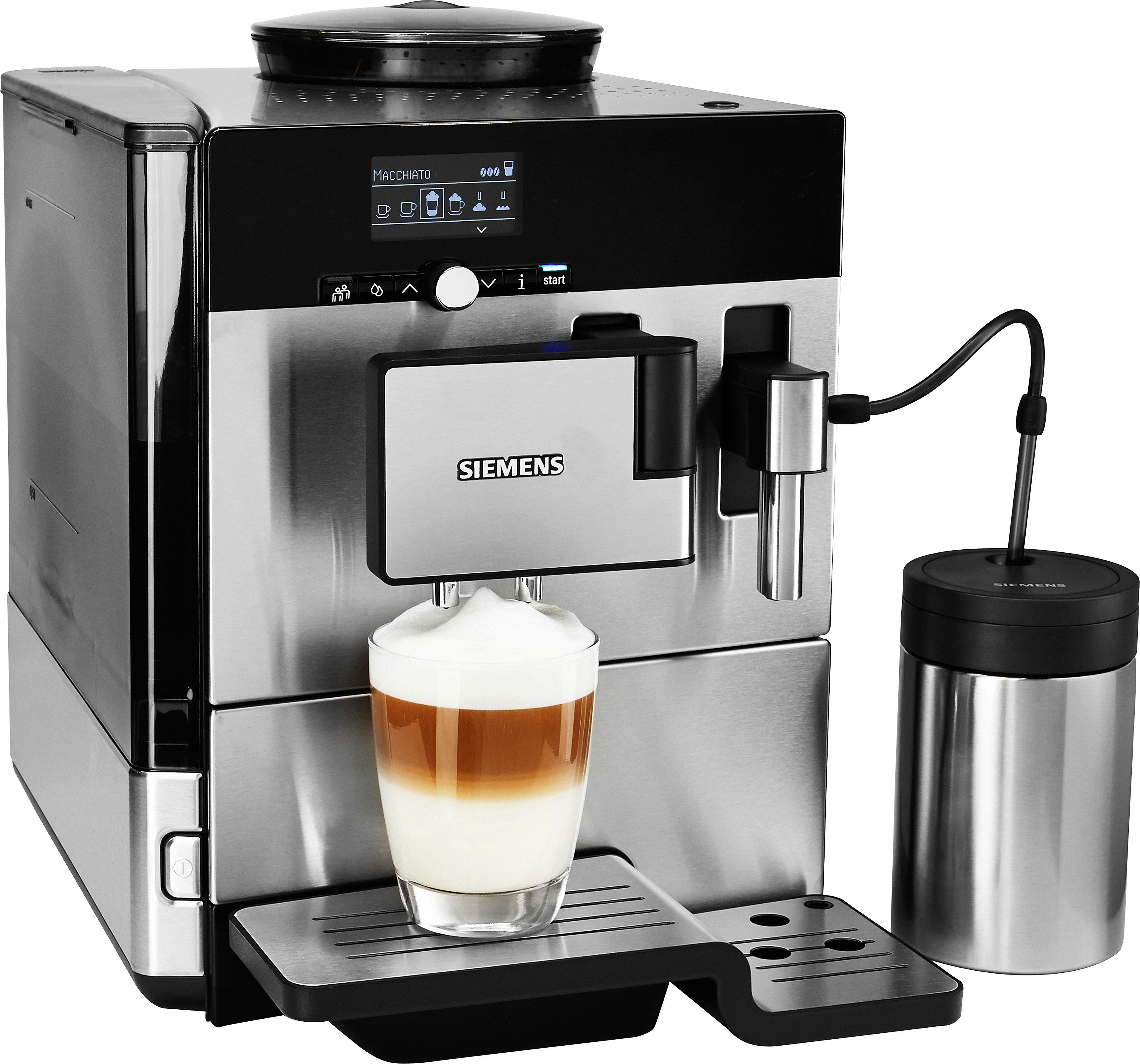 SIEMENS Kaffeevollautomat EQ.8 series 600 TE806501DE, 2,4l Tank, Scheibenmahlwerk, inkl. Isoliermilchbehälter