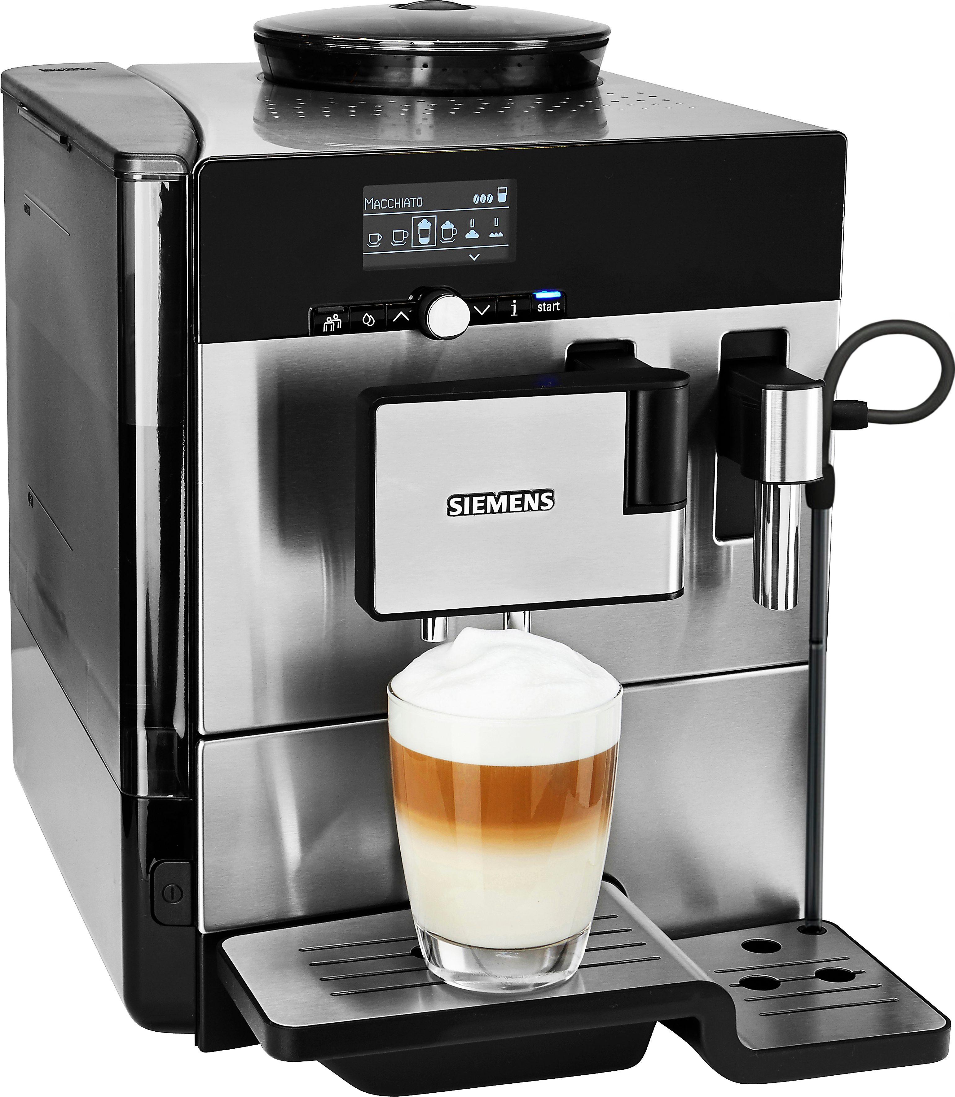 Siemens Kaffeevollautomat EQ.8 series 300 TE803509DE, Edelstahl / Hochglanz-schwarz
