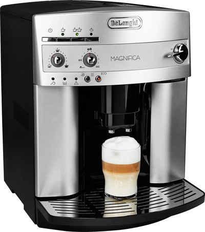 De'Longhi Kaffeevollautomat Magnifica ESAM 3200.S, mit Milchaufschäumdüse, Kegelmahlwerk 13 Stufen, Herausnehmbare Brühgruppe, 2-Tassen-Funktion, in silber
