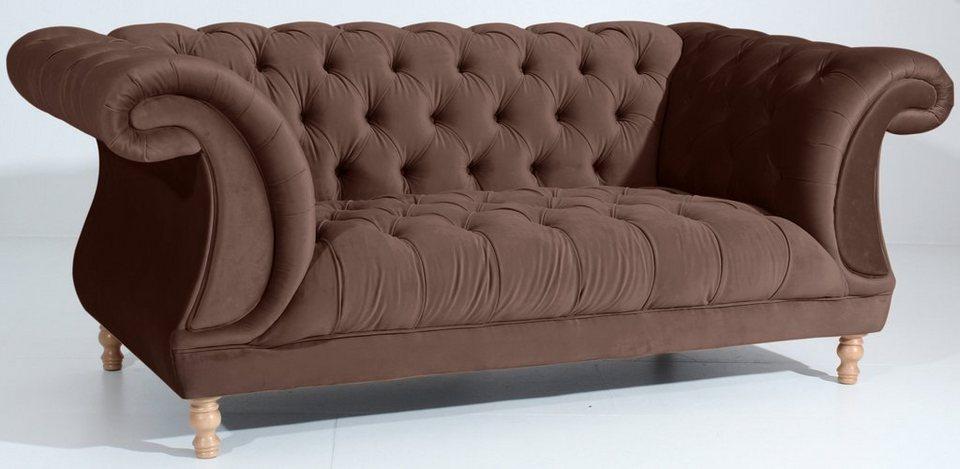 max winzer chesterfield 2 sitzer sofa isabelle im retrolook breite 200 cm online kaufen otto. Black Bedroom Furniture Sets. Home Design Ideas