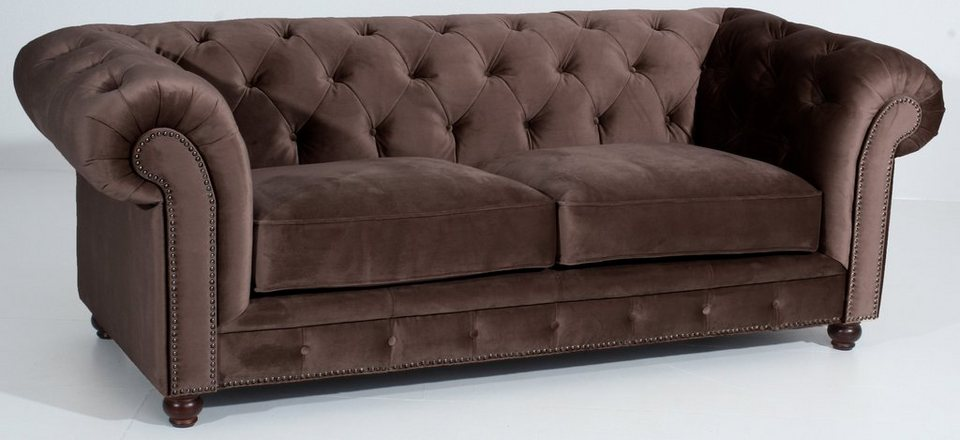 Chesterfield sofa stoff  Max Winzer® Chesterfield 2,5-Sitzer Sofa »Old England« im ...