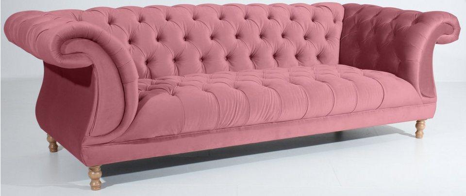 Max Winzer Chesterfield 3 Sitzer Sofa Isabelle Im Retrolook