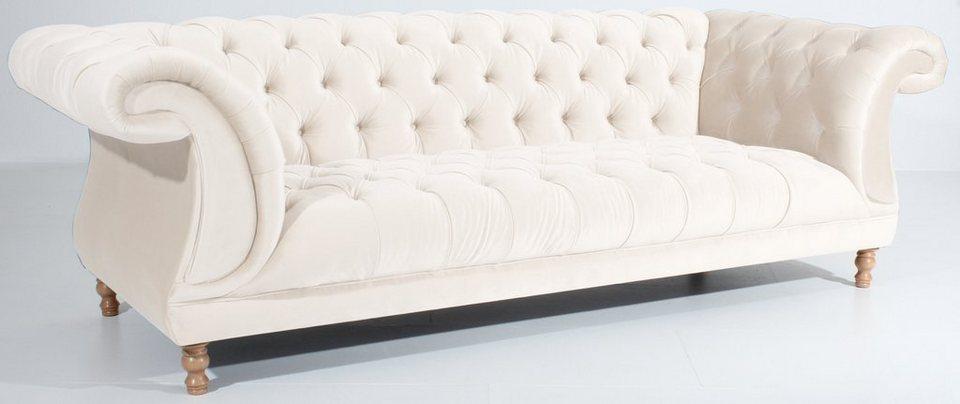 Max Winzer® Chesterfield 3-Sitzer Sofa »Isabelle«, im Retrolook ...