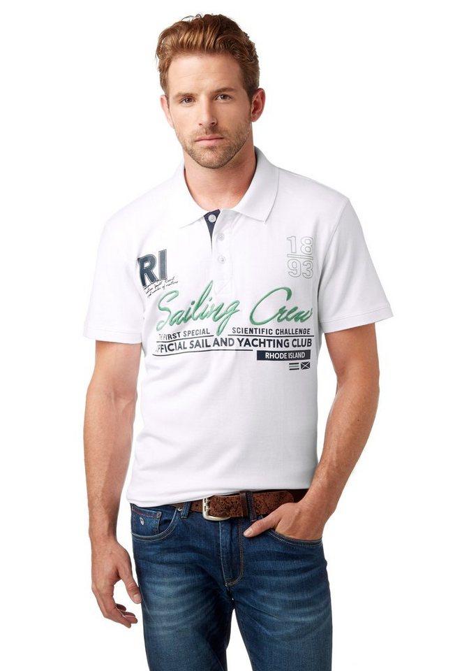 Rhode Island Poloshirt Piqué Qualität in weiß