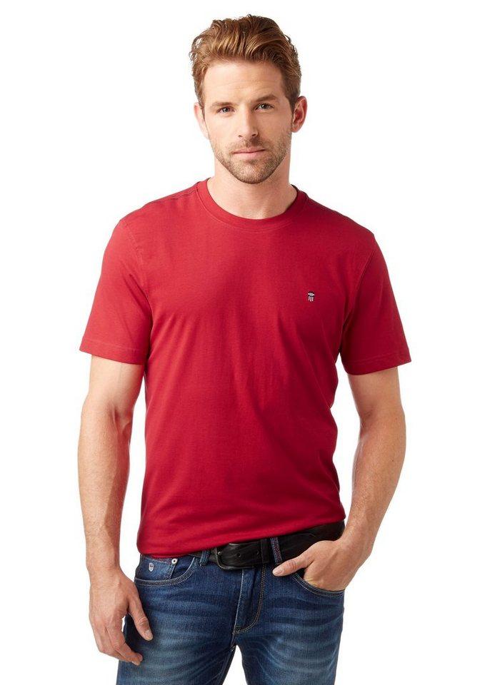Rhode Island T-Shirt Reine Baumwolle in rot
