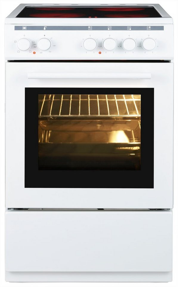 Vestfrost Glaskeramik-Kochfeld FSHC 50.60 in weiß